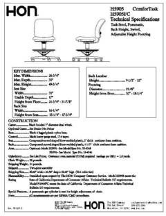Furniture Spec Sheet Template Hon 5900 Series fortask Pneumatic Task Stool 49 34 H X