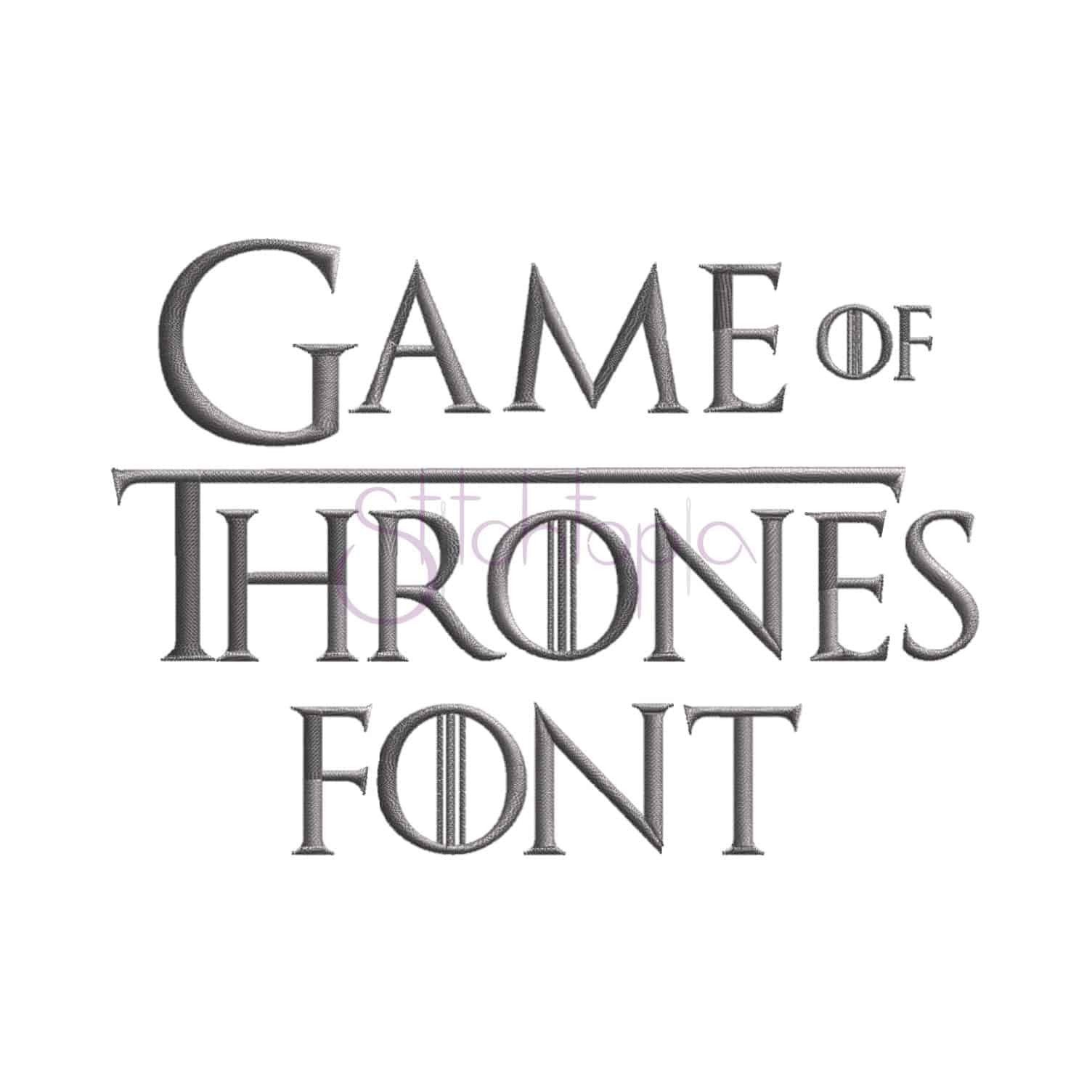 "Game Of Thrones Fonts Game Of Thrones Embroidery Font 75"" 1"" 1 5"" 2"" 2 5"