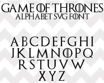 Game Of Thrones Fonts Game Of Thrones Font Svg Game Of Thrones Alphabet Svg Eps