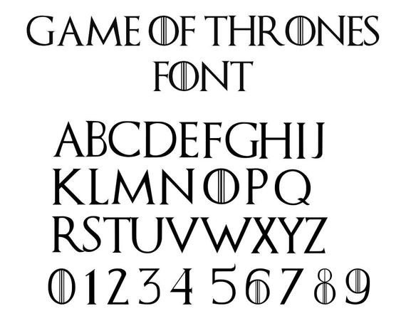 Game Of Thrones Fonts Game Of Thrones Font Svg Game Of Thrones Alphabet Svg