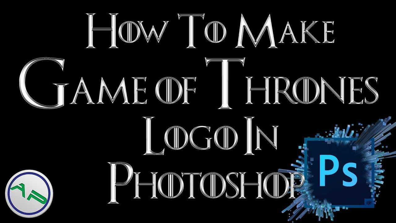 Game Of Thrones Fonts How to Make the Game Of Thrones Logo Font Using Shop