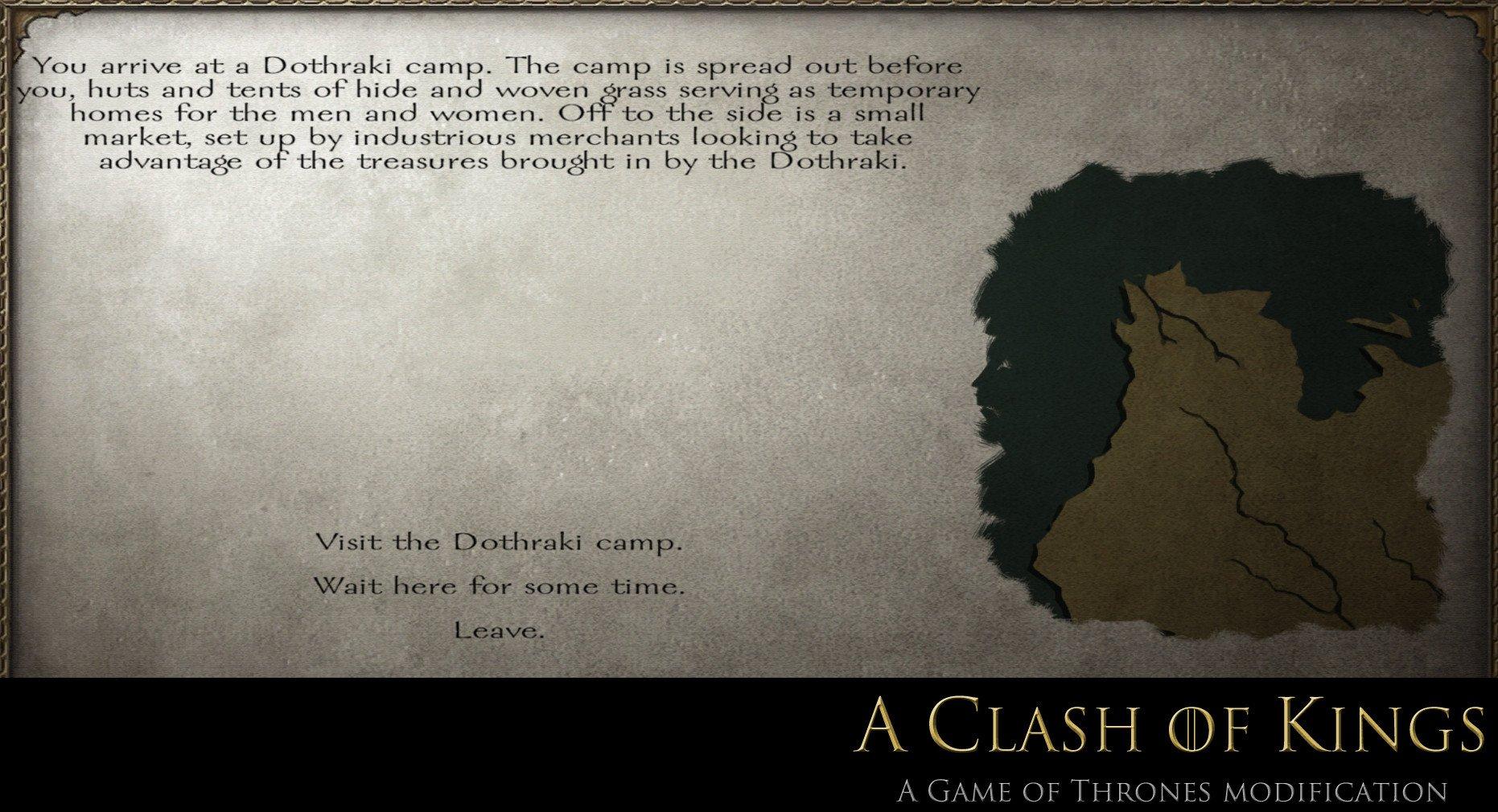 Game Of Thrones Menu Template Dothraki Template Image A Clash Of Kings Game Of
