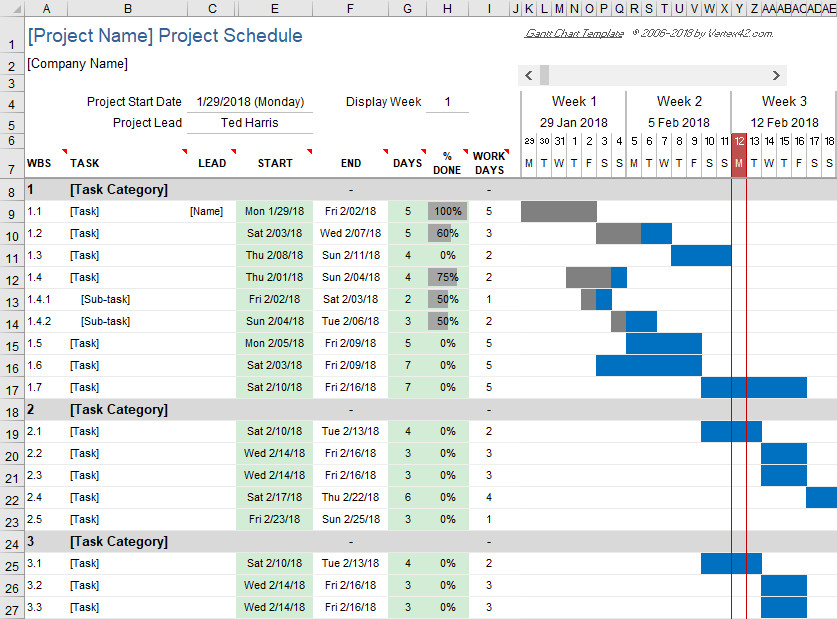 Gantt Chart Excel Template Free Gantt Chart Template for Excel