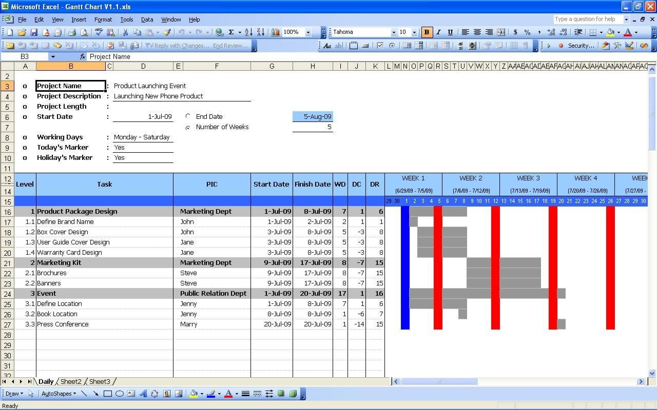 Gantt Chart Excel Template Gantt Chart