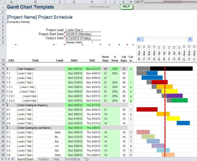 Gantt Chart Excel Template Gantt Chart Template Pro for Excel