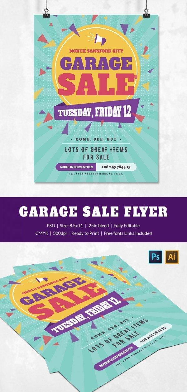 Garage Sale Flyer Template Free 14 Best Yard Sale Flyer Templates & Psd Designs