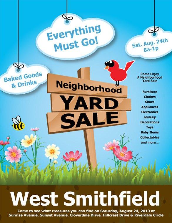 Garage Sale Flyer Template Free 21 Best Yard Sale Flyer Templates & Psd Word Eps