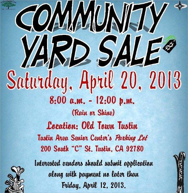 Garage Sale Flyer Template Free 27 Yard Sale Flyer Templates Psd Eps format Download