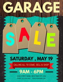 Garage Sale Flyer Template Free Customize 680 Garage Sale Flyer Templates