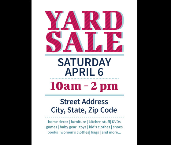 Garage Sale Flyer Template Free Download This Yard Sale Flyer Template and Other Free