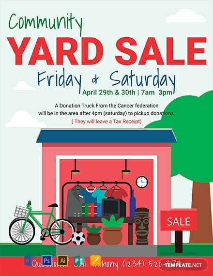 Garage Sale Flyer Template Free Free Yard Sale Flyer Template Download 1330 Flyers In