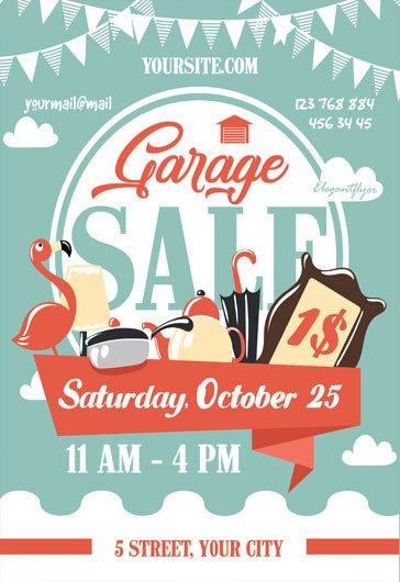 Garage Sale Flyer Template Free Garage Sale – Free Flyer Psd Template – by Elegantflyer