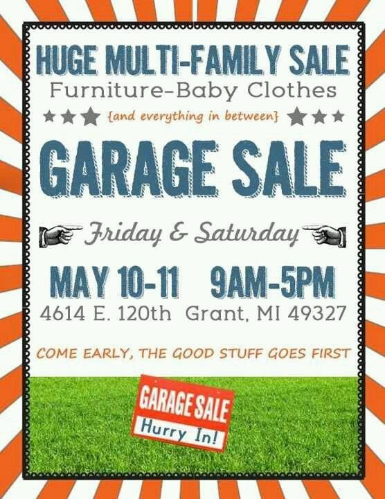 Garage Sale Sign Template 16 Best Images About Garage Sale On Pinterest