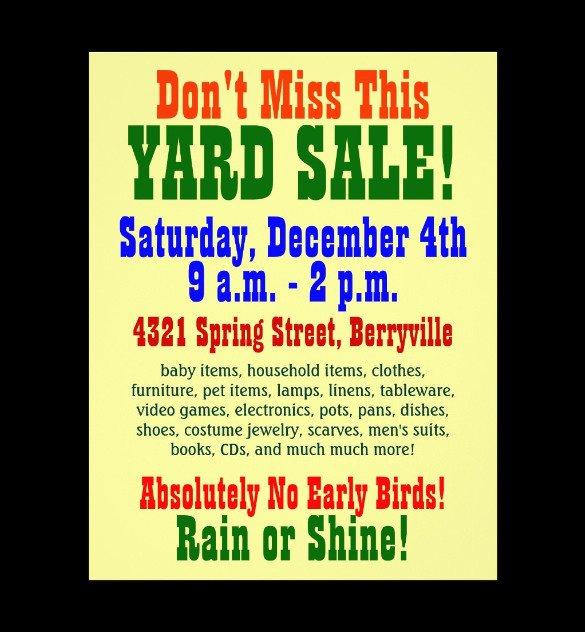 Garage Sale Sign Template 21 Best Yard Sale Flyer Templates & Psd Word Eps