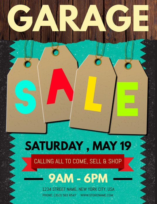 Garage Sale Sign Template Copy Of Garage Sale Flyer