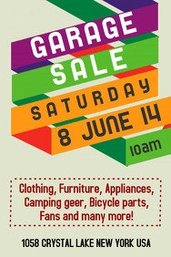 Garage Sale Sign Template Customize 690 Garage Sale Flyer Templates
