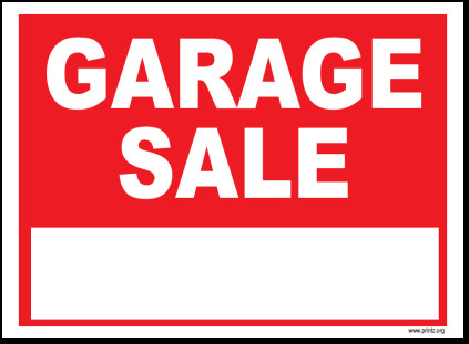 Garage Sale Sign Template Garage Sale Sign