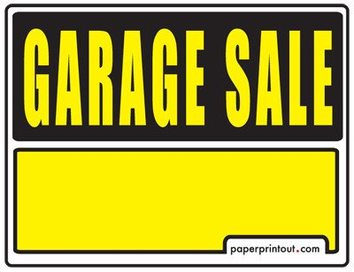 Garage Sale Sign Template Garage Sale Signs Free Printable and Downloadable