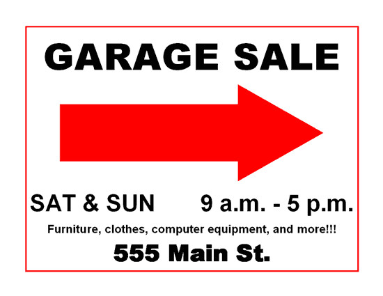 Garage Sale Sign Template Garage Sale Signs What Not to Do and How to Drive Traffic