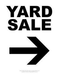 Garage Sale Sign Template Garage Sale Tips Clear Clutter with A Yard Sale