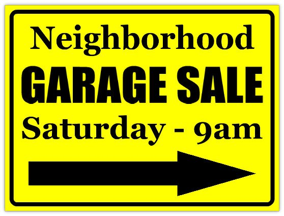Garage Sale Sign Template the Merry Catholic Tag Sales Prompt Lawless Behavior