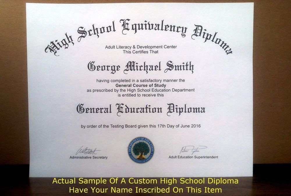 Ged Certificate Template Download Fake Ged Fake High School Diploma Fake Diploma Real