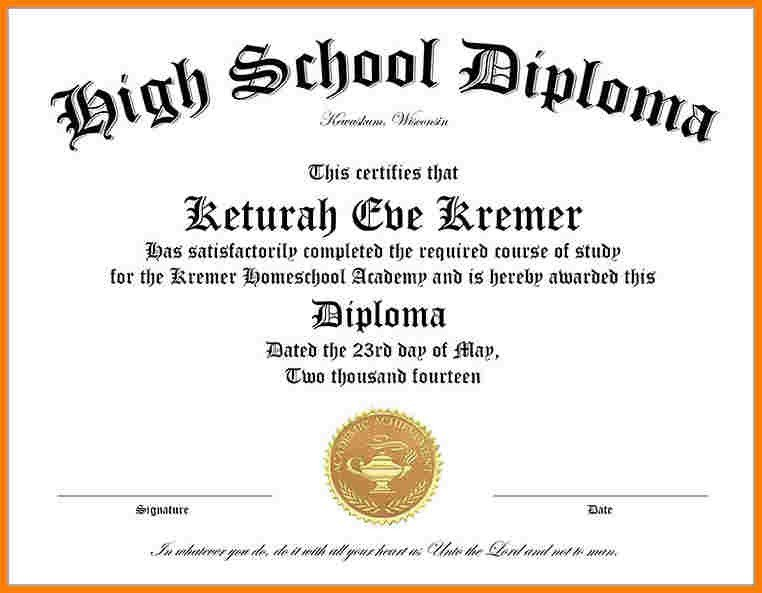 Ged Certificate Template Download Free High School Diploma Templates
