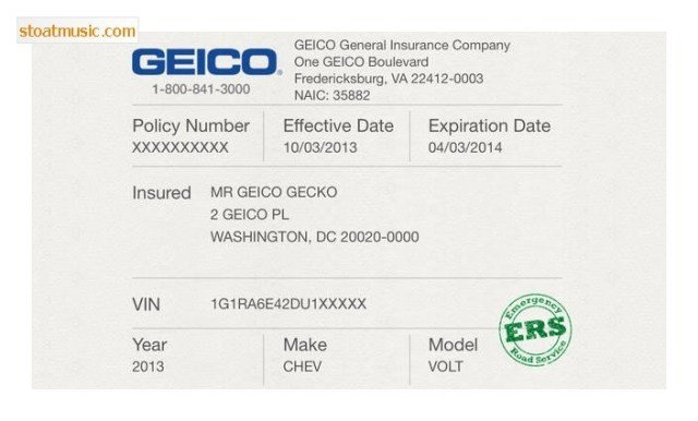 Geico Insurance Card Template Download Geico Insurance Card Template Free Download Aashe