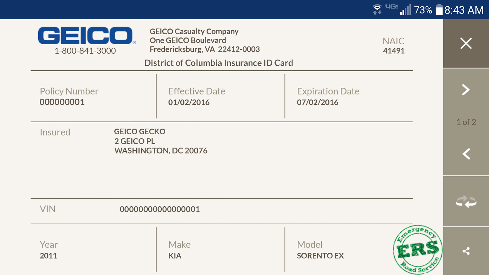 Geico Insurance Card Template Download Geico Mobile android Apps On Google Play