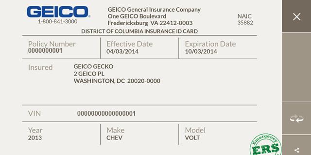 Geico Insurance Card Template Download Geico Mobile Screenshot