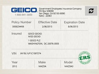 Geico Insurance Card Template Download Proof Auto Insurance Template Free