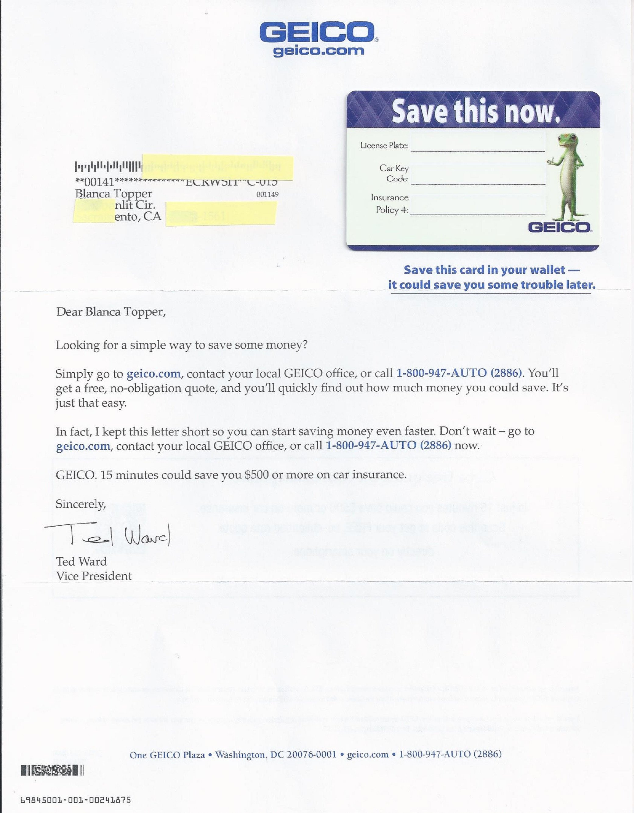 Geico Insurance Card Template Download This is Possible Ly with Direct Mail