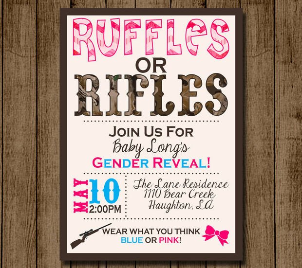 Gender Reveal Invitation Template 15 Gender Reveal Invitations Printable Psd Ai Eps