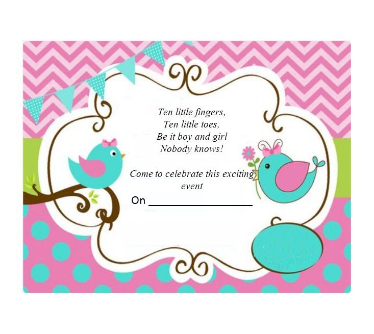 Gender Reveal Invitation Template 17 Free Gender Reveal Invitation Templates Template Lab