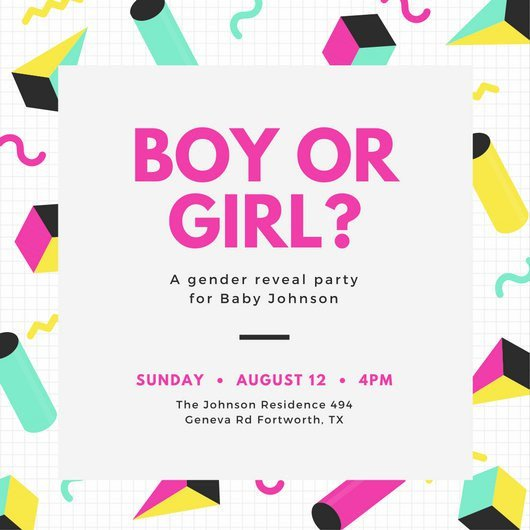 Gender Reveal Invitation Template Customize 29 Gender Reveal Invitation Templates Online