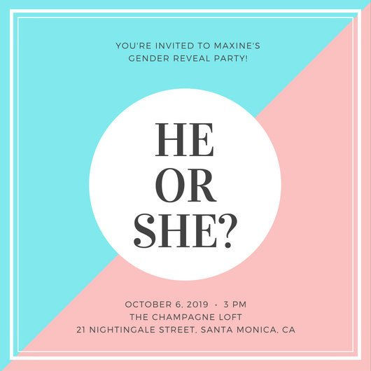 Gender Reveal Invitation Template Gender Reveal Invitation Templates Canva