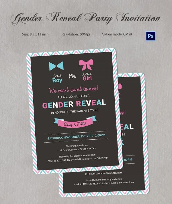 Gender Reveal Invitation Template Gender Reveal Invitation Templates