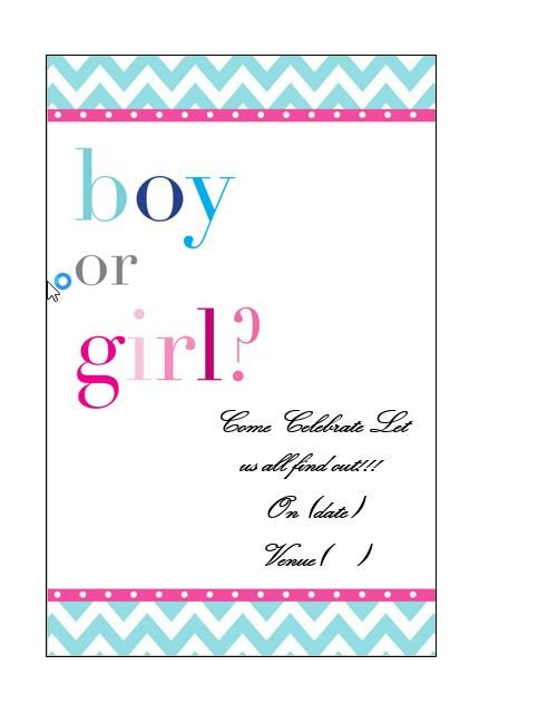 Gender Reveal Invitation Templates 17 Free Gender Reveal Invitation Templates Template Lab