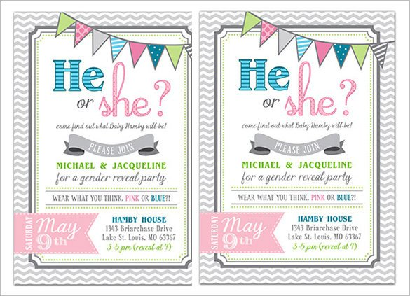 Gender Reveal Invitation Templates Gender Reveal Invitation Template – 34 Free Psd Eps