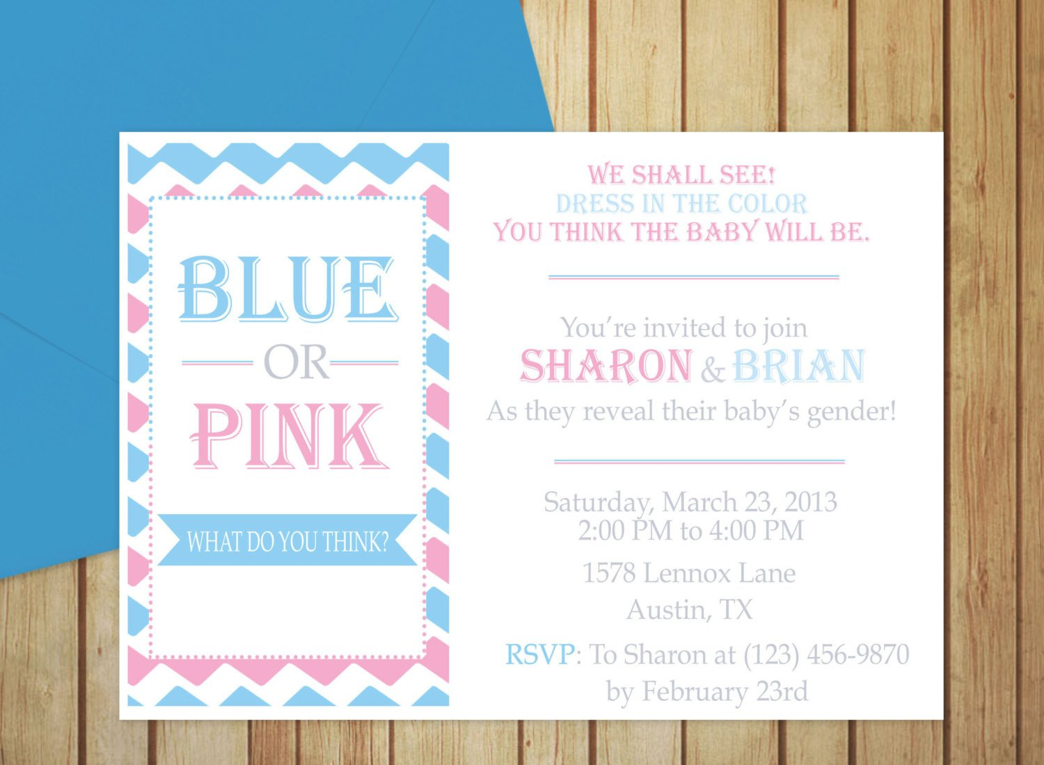 Gender Reveal Invitation Templates Printable Gender Reveal Invitation Editable Template