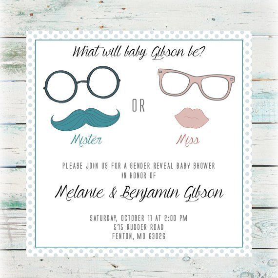 Gender Reveal Invitation Wording 15 Adorable Baby Gender Reveal Party Invitations