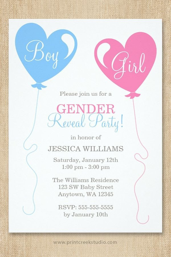 Gender Reveal Invitation Wording 17 Best Ideas About Gender Reveal Invitations On Pinterest