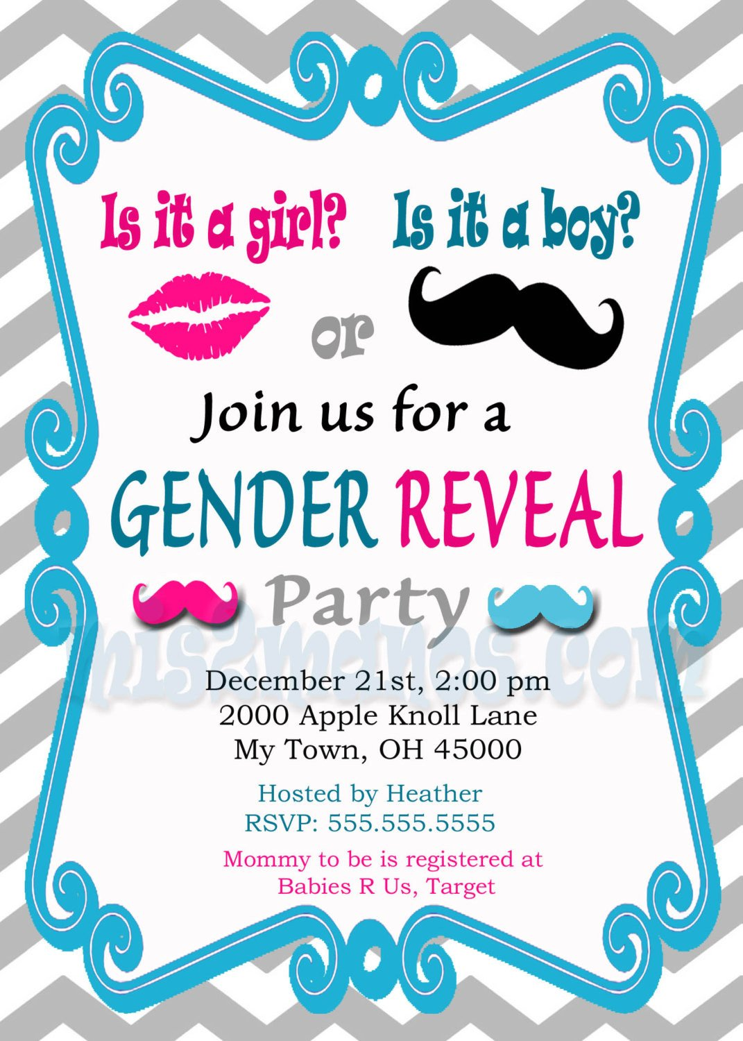 Gender Reveal Invitation Wording Gender Reveal Invitation Baby Shower Invites Printable Diy
