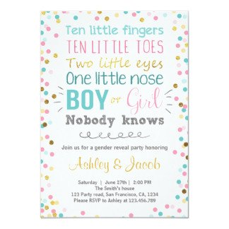 Gender Reveal Invitation Wording Gender Reveal Party Invitations