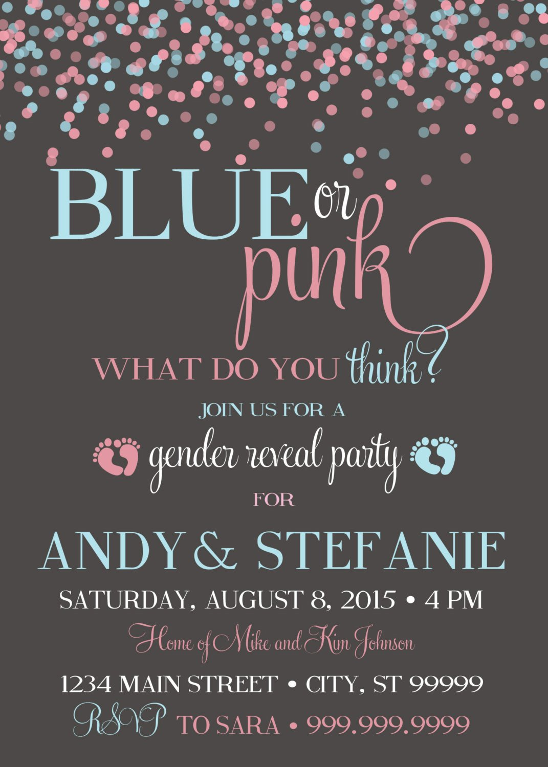 Gender Reveal Invitations Free 10 Baby Gender Reveal Party Ideas
