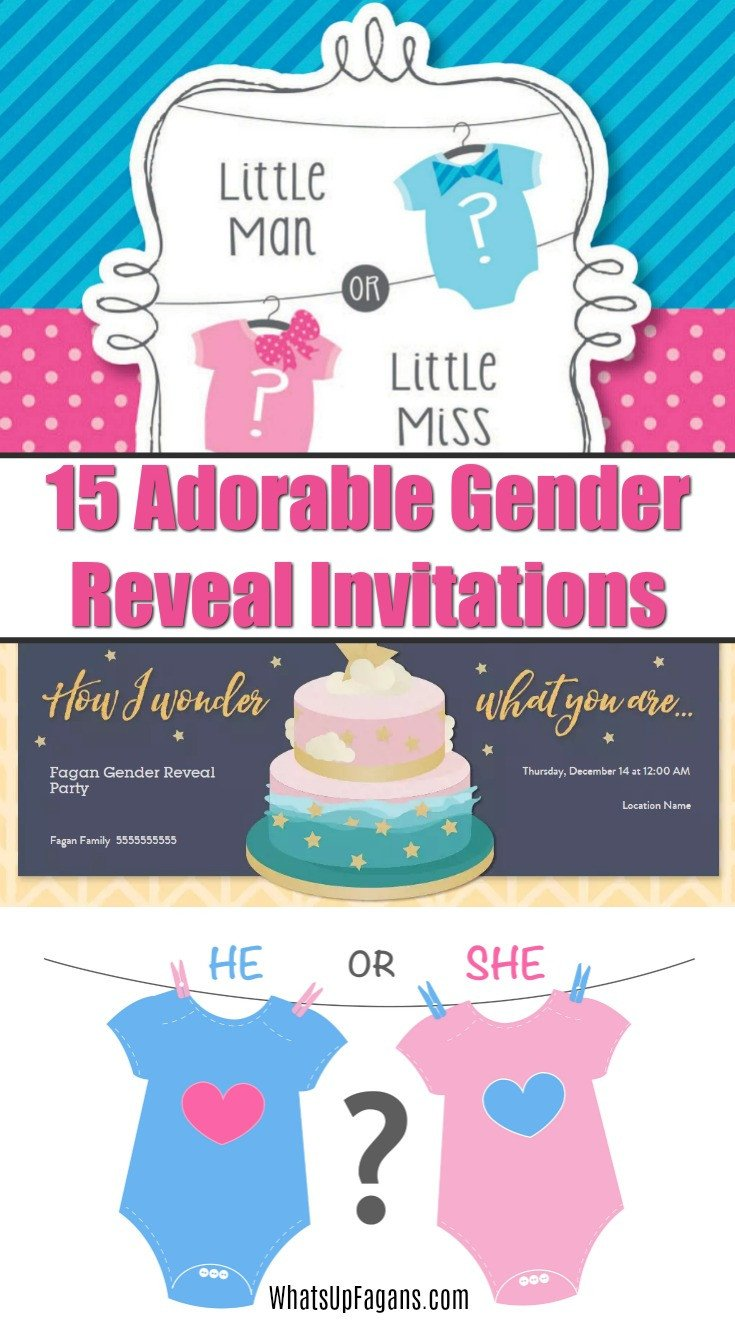 Gender Reveal Invitations Free 15 Adorable Baby Gender Reveal Party Invitations