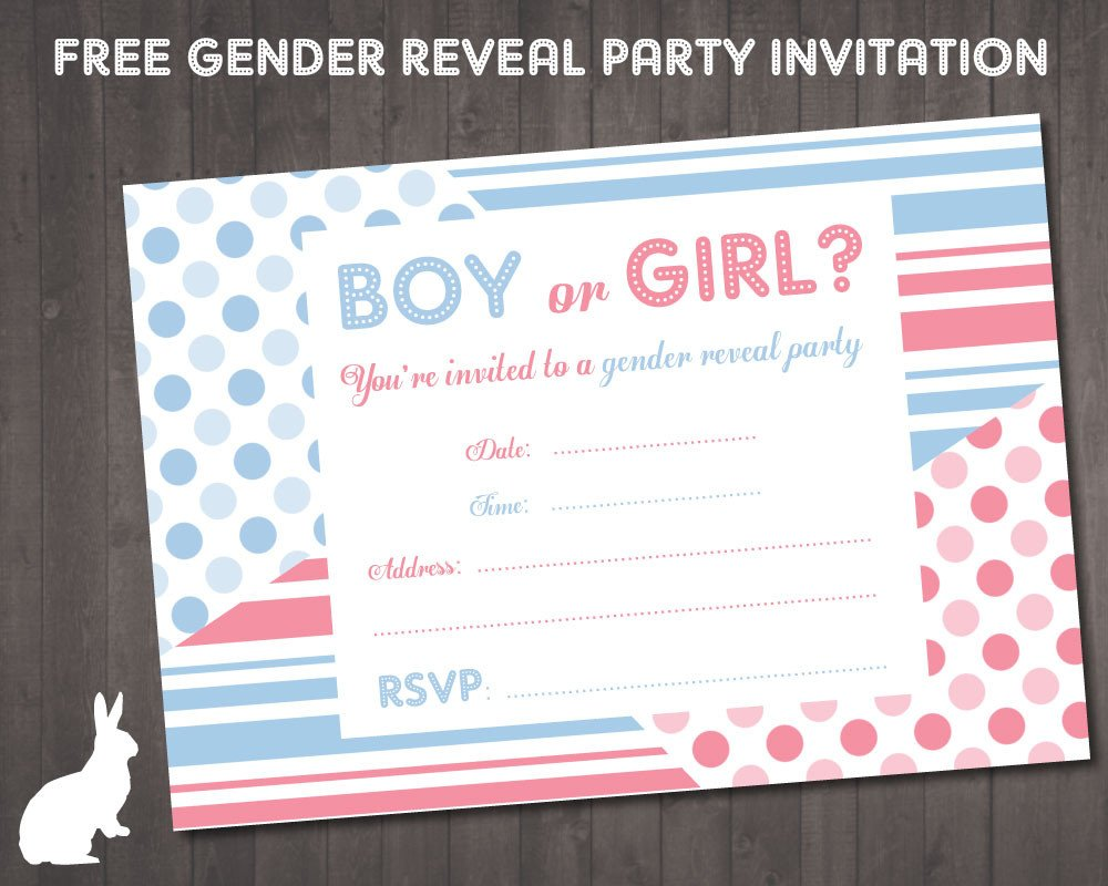 Gender Reveal Invitations Free Free Baby Shower Invitations