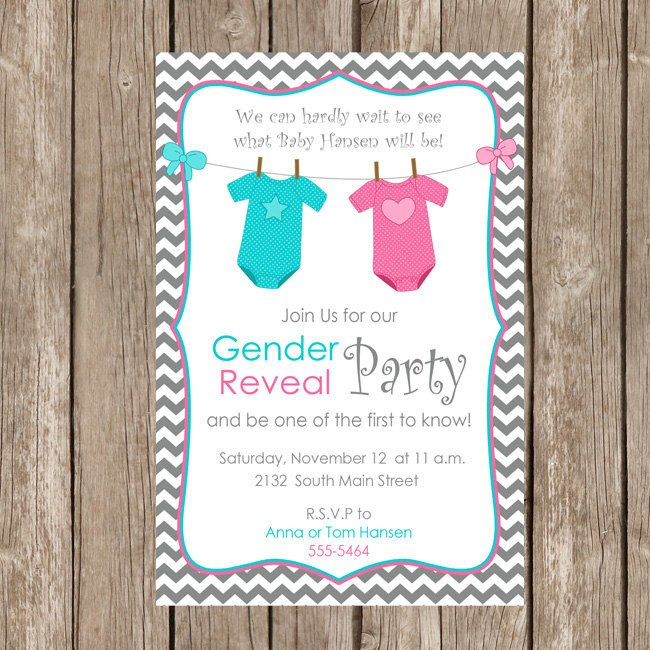 Gender Reveal Invitations Free Gender Reveal Invitation Baby Reveal Invite Printable