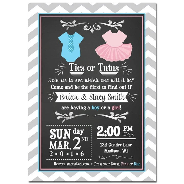 Gender Reveal Invitations Free Gender Reveal Invitations