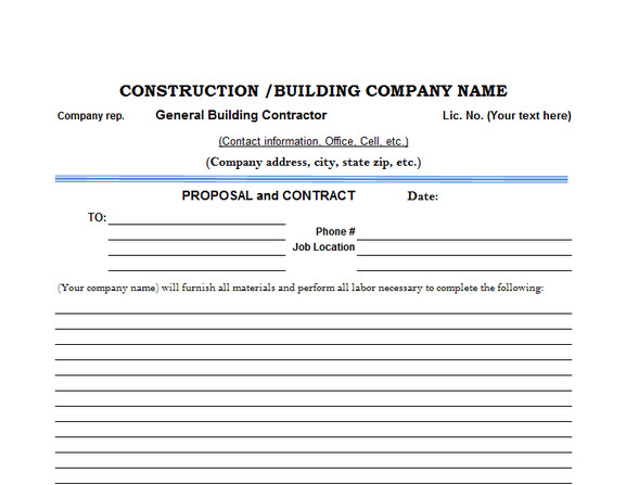 General Contractor Checklist Template 6 Best Free Construction Estimate Templates